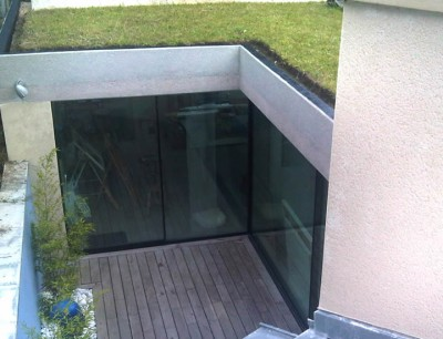 Large Glass leaf Sliding Patio Doors
