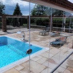 Retractable Glass Enclosure around pool