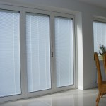 Bi Folding Doors - Contemporary setting - with integral blinds