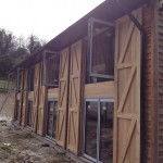 Bi folding Doors & Windows on out-building