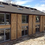 Aluminium bifolding doors and windows on new outbuilding