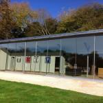 Sightline Extra-Tall Glass Pocket-style Sliding Doors on Commercial Bulding