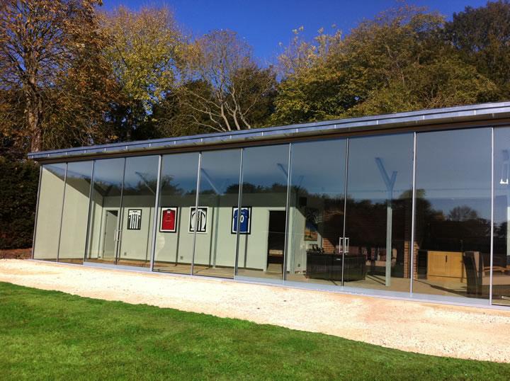 Large Glass Sliding Doors Commercial Installation