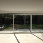 large sliding glass doors x 3