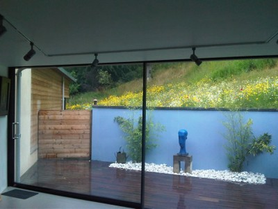Extra wide glass sliding doors