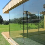 view through two Sightline glass door aspects