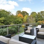 glass balustrades on roof terrace