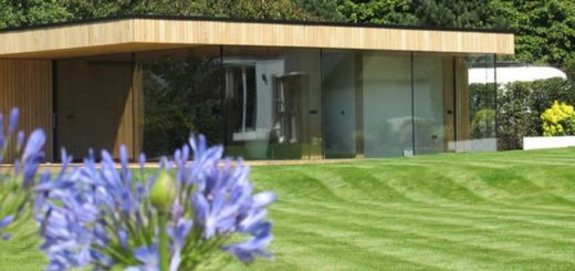 large summer house with sightline doors