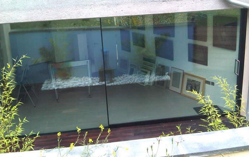 Sightline large leaf glass doors