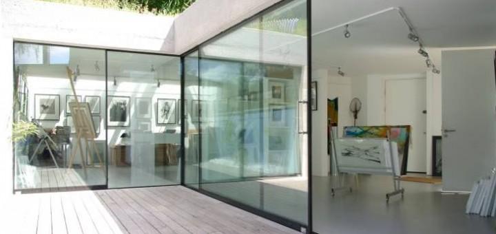 studio/gallery with sightline doors