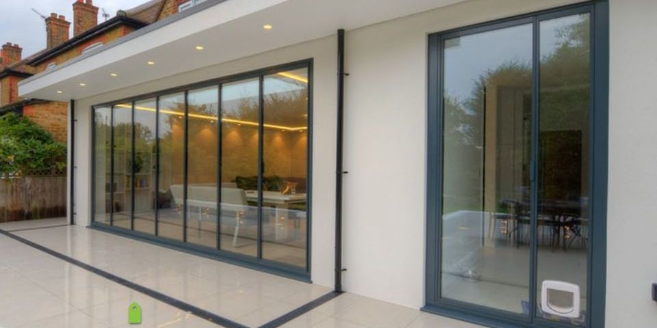 Ultraslim and frameless glass doors animation for Large patio doors