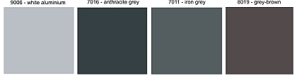 roller shutter standard colours