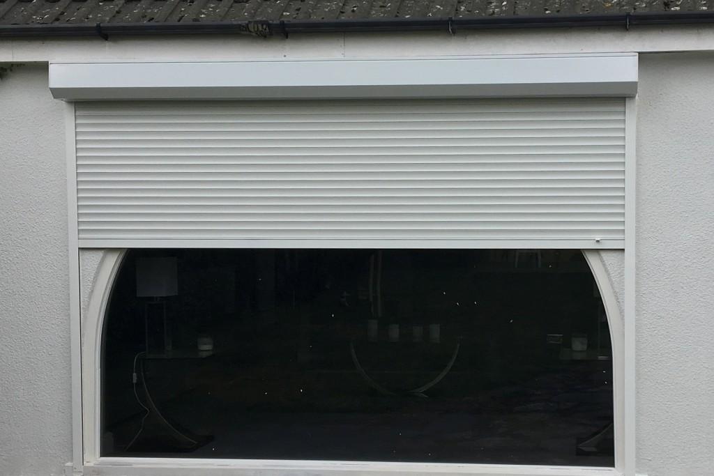 white roller-shutter
